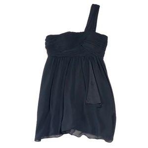 BCBGeneration One Shoulder Mini Black Dress